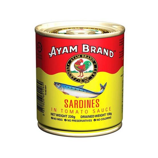 อะยัม ปลาซาร์ดีนในซอสมะเขือเทศ 230 กรัม