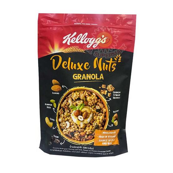 อาหารเช้าเคลล็อกส์ดีลักซ์นัทกราโนลา 220 กรัม