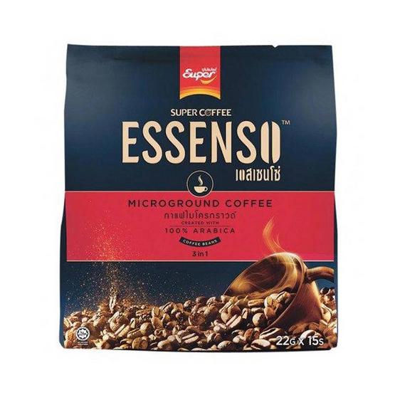 ซุปเปอร์กาแฟเอสเซนโซ่ 3in1 อาราบิก้า 22 กรัม (15 ซอง/ถุง)