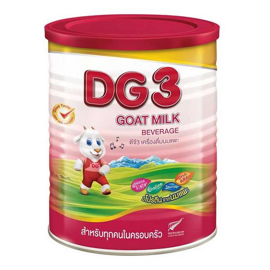 นมผงดีจี เครื่องดื่มนมแพะ สูตร3 800 กรัม