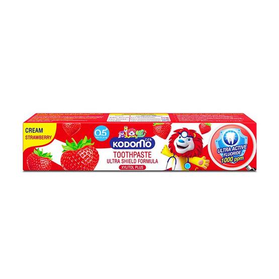 โคโดโม ยาสีฟันเด็ก ครีมสตรอเบอร์รี่ 65 กรัม