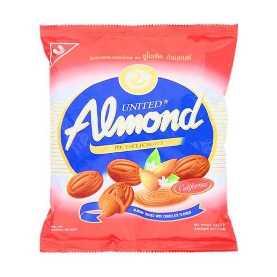 ยูไนเต็ด ช็อกโกแลตสอดไส้อัลมอนด์ 247.5 กรัม