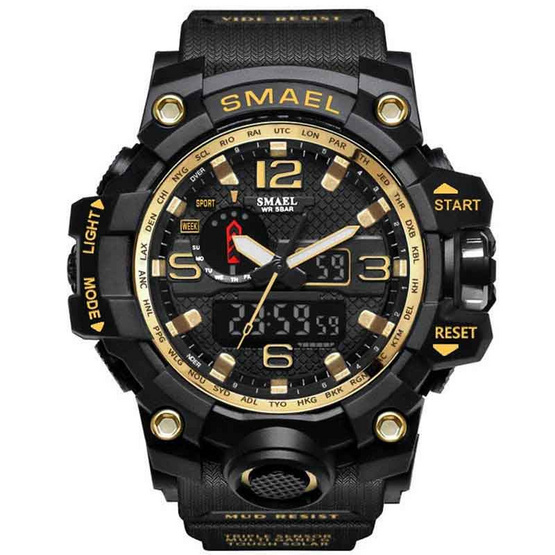นาฬิกาข้อมือ รุ่น SM1545-BK/GO