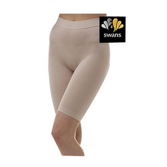 Swans กางเกงสั้นกระชับสัดส่วน-เนื้อ L/XL