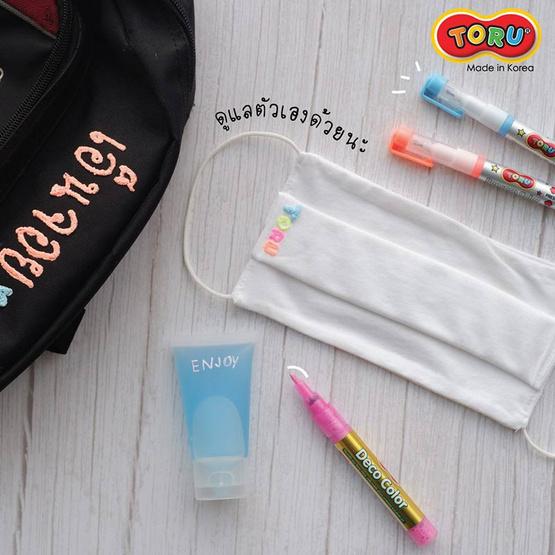 DONG-A TORU Popcorn Color ปากกาป๊อปคอร์น 5 สี