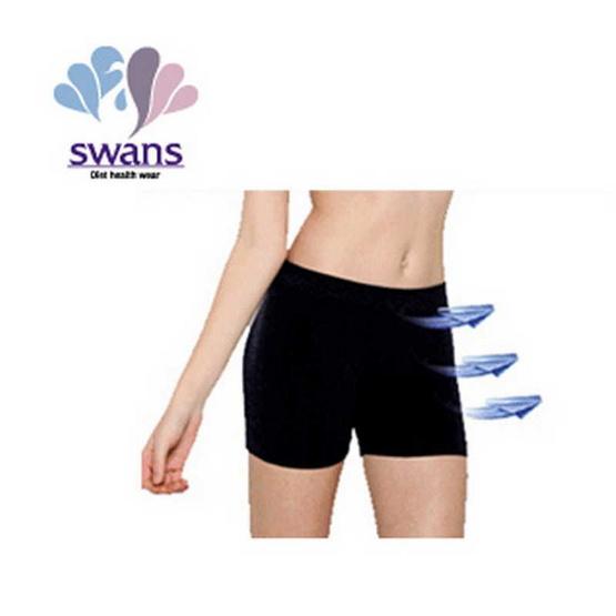Swans กางเกงหญิงขาสั้นเนื้อ