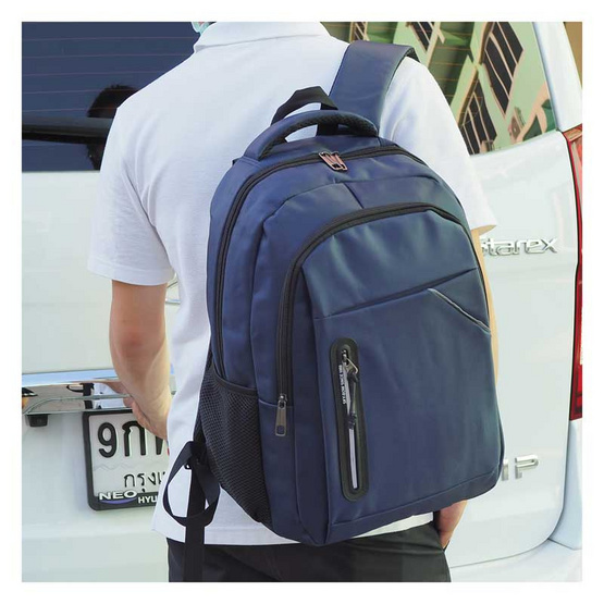 HQ LUGGAGE กระเป๋าเป้ โน้ตบุ๊ค Sky-bow รุ่น 11143 (สีกรม)