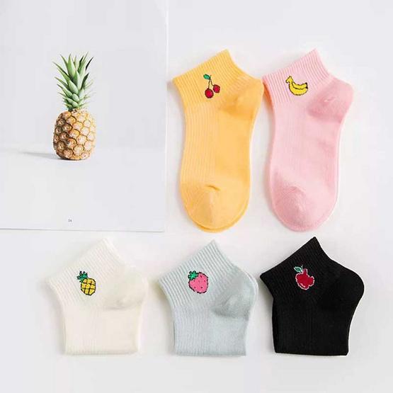 Fashion sock ลายผลไม้ 1 แพค มี 10 คู่