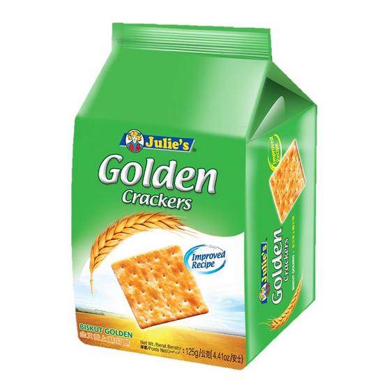 จูลี่ส์ โกลเด้นแครกเกอร์ขนมปังกรอบ 125 กรัม