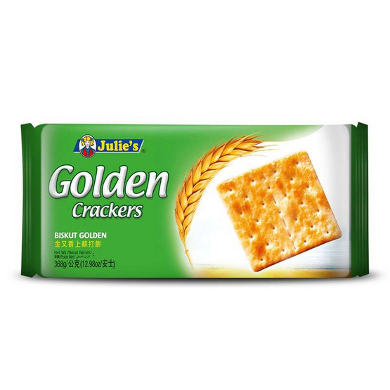 จูลี่ส์ โกลเด้นแครกเกอร์ขนมปังกรอบ 368 กรัม