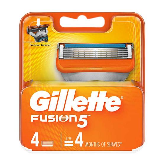 ยิลเลตต์ ใบมีดโกน ฟิวชั่นไฟว์ ใบมีดโกน (แพ็ก 4 ชิ้น)