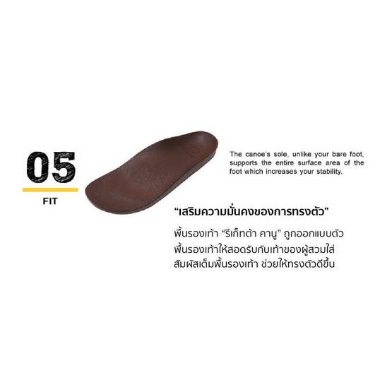 รีเก็ทต้า คานู รองเท้าสุขภาพ รุ่น CJFD5326 / Dark Brown
