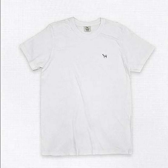Barbari เสื้อยืดคอกลม Premium Cotton 100% ใส่ได้ทั้งผู้หญิง/ผู้ชาย สีขาว