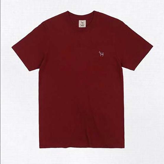 Barbari เสื้อยืดคอกลม Premium Cotton 100% ใส่ได้ทั้งผู้หญิง/ผู้ชาย สีแดง