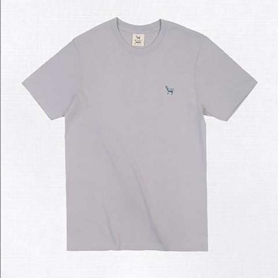 Barbari เสื้อยืดคอกลม Premium Cotton 100% ใส่ได้ทั้งผู้หญิง/ผู้ชาย สีเทาอ่อน