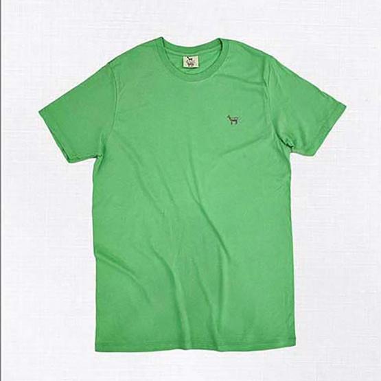 Barbari เสื้อยืดคอกลม Premium Cotton 100% ใส่ได้ทั้งผู้หญิง/ผู้ชาย สีเขียวอ่อน