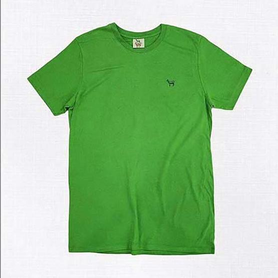 Barbari เสื้อยืดคอกลม Premium Cotton 100% ใส่ได้ทั้งผู้หญิง/ผู้ชาย สีเขียว