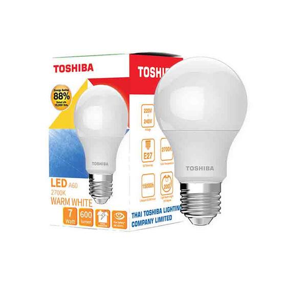 TOSHIBA  หลอด LED Bulb G7 7W วอร์มไวท์ E27