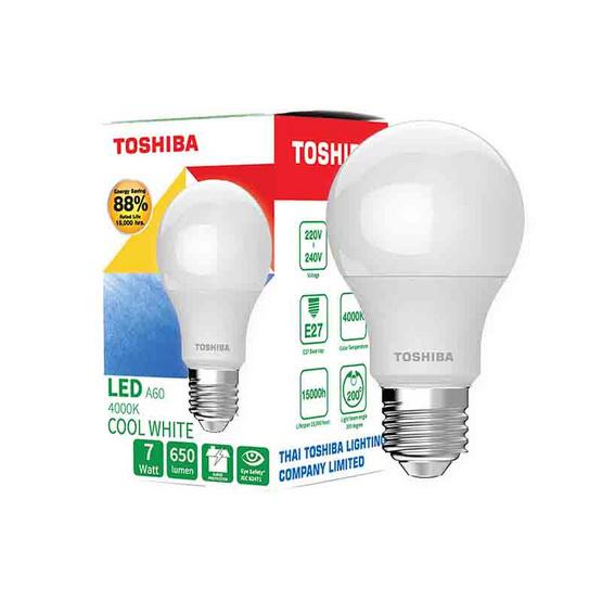 TOSHIBA  หลอด LED Bulb G7 7W คูลไวท์ E27