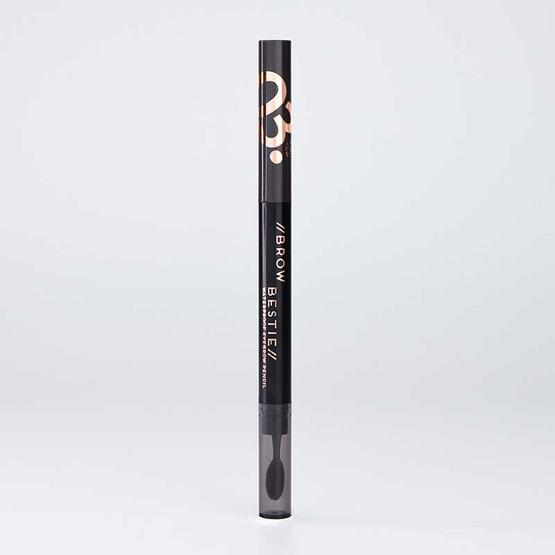 FIIT Cosmetics ดินสอเขียนคิ้ว Brow Bestie Waterproof eyebrow pencil #03 Dark Brown (2แถม1)