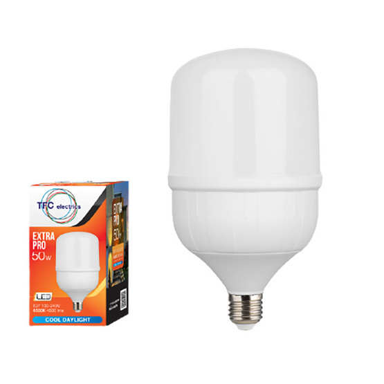 TFC หลอด LED เอ็กตร้าโปร 50 วัตต์ ขั้ว E27 แสงเดย์ไลท์ - ขาว