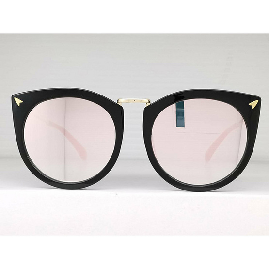 Signature แว่นตากันแดดแฟชั่น PB สีชมพู กรอบดำ