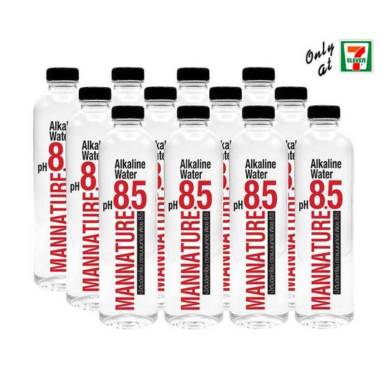 น้ำดื่มแมนเนเจอร์ พีเอช 8.5 500 มล. (แพ็ก 12 ขวด)