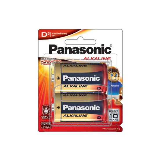 PANASONIC ถ่านไฟฉาย อัลคาไลน์ รุ่น LR20T/2B ขนาด D (แพ็ก 2 ก้อน)