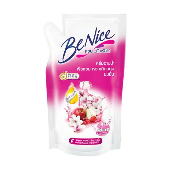 บีไนซ์ ครีมอาบน้ำ สูตรมีสทิคไวท์ (ถุงเติม) 400 มล.
