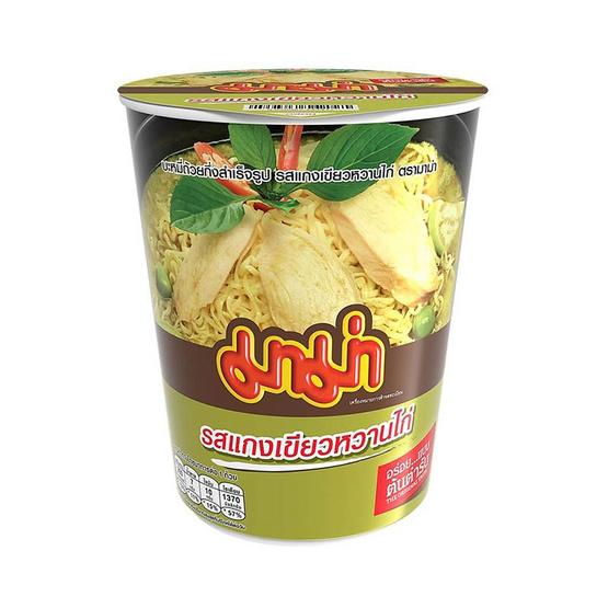 มาม่าคัพ รสแกงเขียวหวานไก่ 60 กรัม แพ็ก 6 ถ้วย
