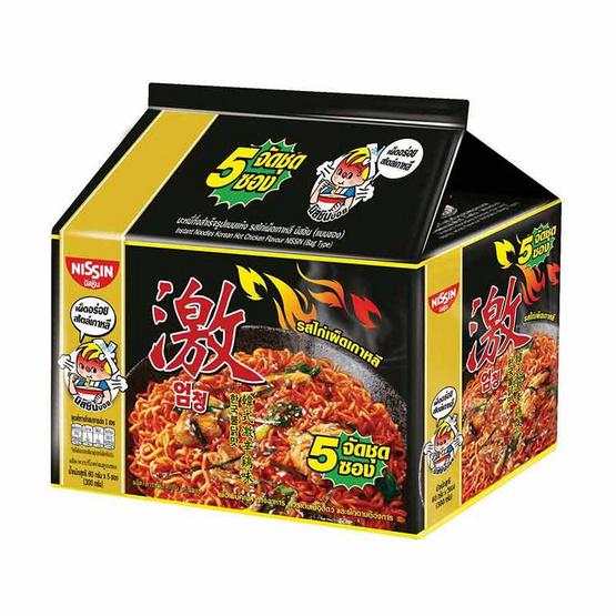 นิสชินซอง รสไก่เผ็ดเกาหลี 60 กรัม แพ็ก 5 ซอง