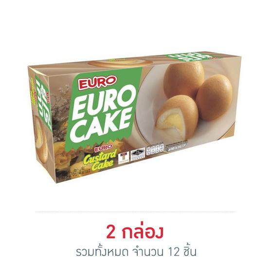 ยูโร่ คัสตาร์ดเค้ก 24 กรัม กล่อง 6 ชิ้น