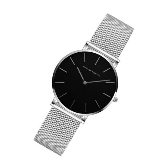 HANNAH MARTIN นาฬิกาข้อมือ รุ่น HMCH36-SI/BK
