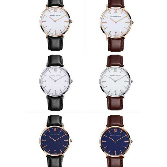 HANNAH MARTIN นาฬิกาข้อมือ รุ่น HMJT-BL
