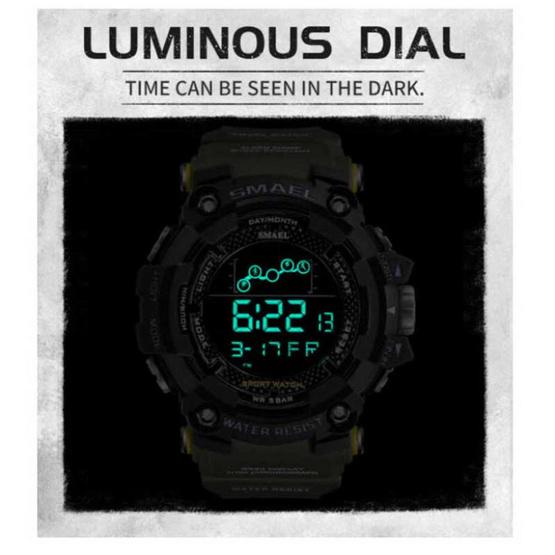 SMAEL นาฬิกาข้อมือ รุ่น SM1802-BK