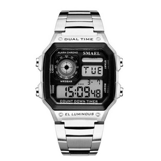 SMAEL นาฬิกาข้อมือ รุ่น SM1818-SI/BK