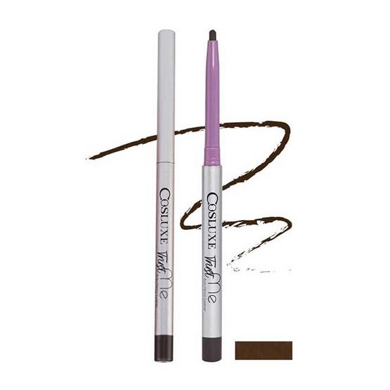 Cosluxe อายไลเนอร์แบบดินสอ Trust Me Auto Pencil Eyeliner #Dark Chocolate