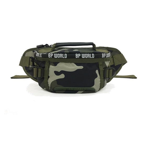 BP WORLD กระเป๋าคาดเอว คาดอก CAMO Collection รุ่น C6433      สีเขียวลายทหาร