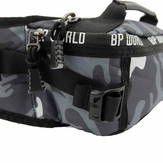 BP WORLD กระเป๋าคาดเอว คาดอก CAMO Collection รุ่น C6433      สีเทาลายทหาร
