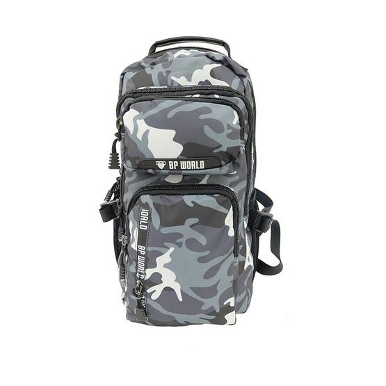 BP WORLD กระเป๋าเป้ CAMO Collection รุ่น P6418- GR สีเทาทหาร