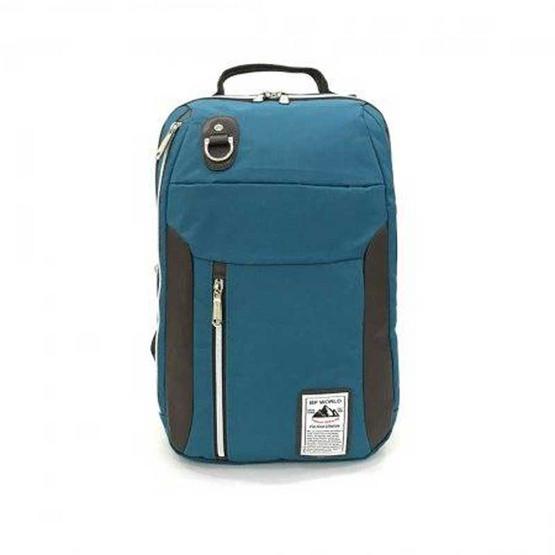 BP WORLD กระเป๋าเป้ รุ่น P003 สีเขียวน้ำทะเล