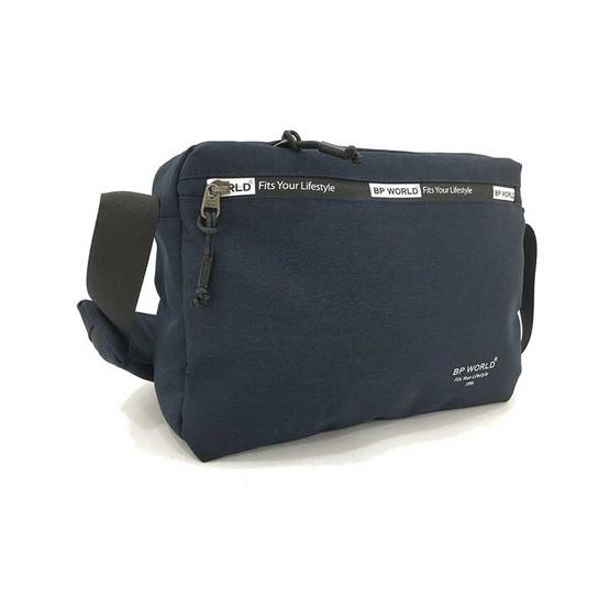 BP WORLD กระเป๋าสะพาย B6004 สีน้ำเงิน