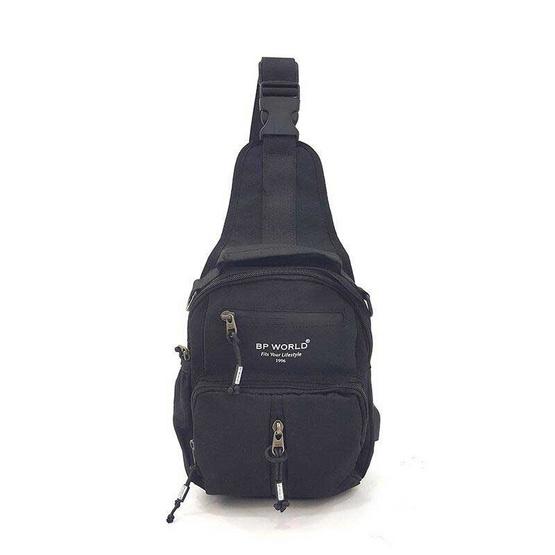 BP WORLD กระเป๋าสะพายไหล่ คาดอก รุ่น B10691 สีดำ