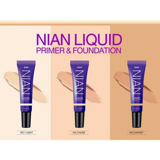 Deesay รองพื้น Nian Liquid Primer & Foundation SPF30 PA+++ No.3 Honey ฟรี ฟองน้ำแต่งหน้า