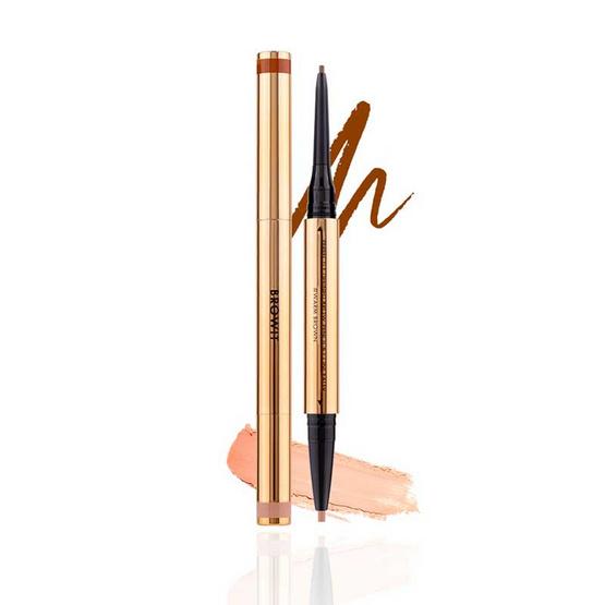 Browit ดินสอเขียนคิ้วและคอนซีลเลอร์ Perfectly Defined Brow Pencil & Concealer #Warm Brown