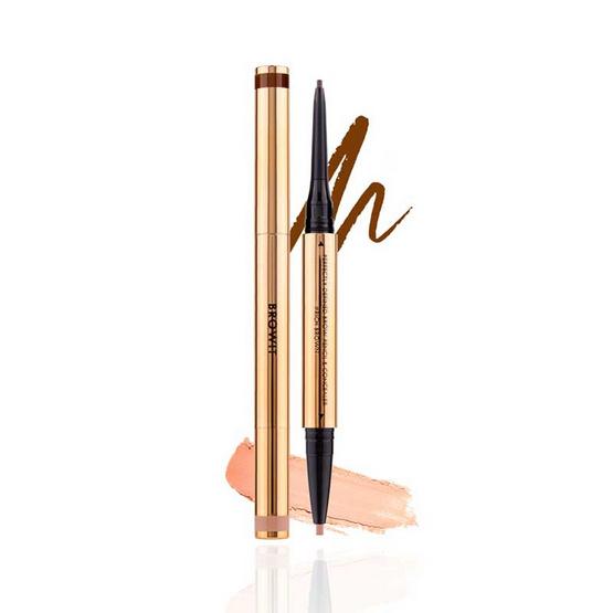 Browit ดินสอเขียนคิ้วและคอนซีลเลอร์ Perfectly Defined Brow Pencil & Concealer #Rich Brown