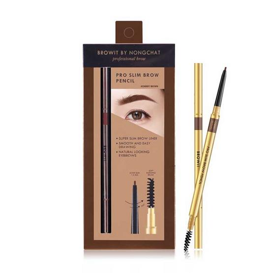 Browit ดินสอเขียนคิ้ว Pro Slim Brow Pencil #Cherry Brown (Y2019)