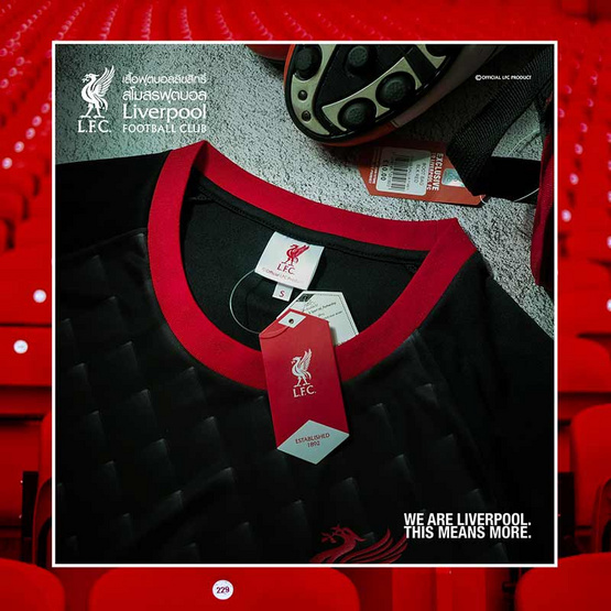 เสื้อฟุตบอลลิขสิทธิ์ สโมสร Liverpool LFC-T-091 สีดำ