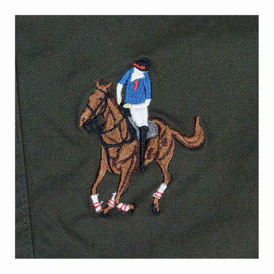GALLOP CASUAL SHORTS กางเกงขาสั้นต่อขอบเอวยางยืด สีเขียวขี้ม้า