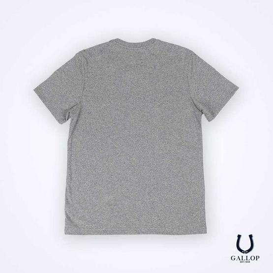 GALLOP BASIC -T-SHIRT Round-necked เสื้อยืดคอกลม สีเทา